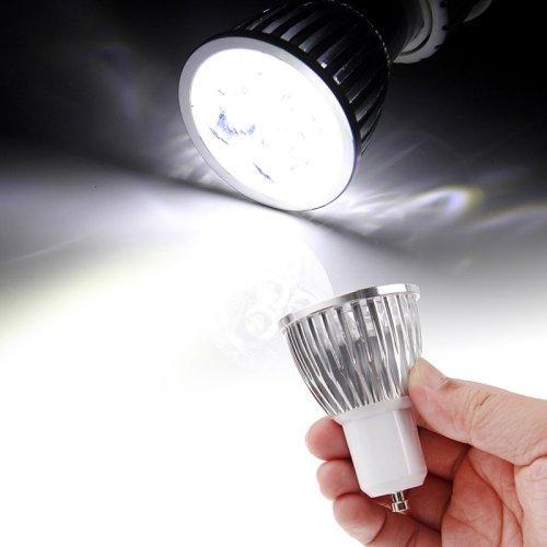 Puluz 5 X 1W Gu10 450Lm White Light Led Spotlight Lighting Bulb (Ac85-265V, 6000K)