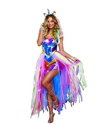 Women's Colorful Unicorn Fantasy Costume,
