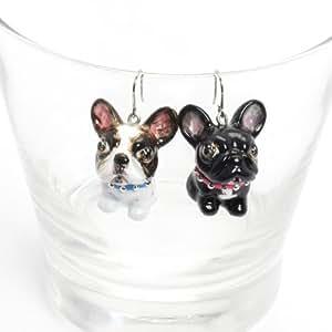 Amazon.com: French Bulldog Dog Lover Earrings 00035
