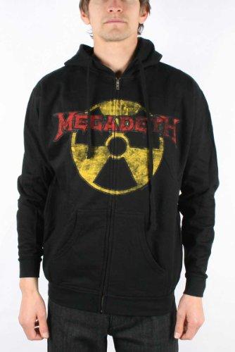 Megadeth - Megadeth Zip Hoodie Guys Hoodie In Black, XX-Large, Black