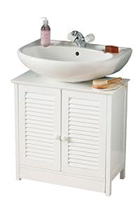 Premier housewares mobile sottolavello per bagno con due - Sottolavello bagno ...