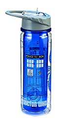 Vandor 16075 Doctor Who Tritan Water Bottle, 18-Ounce, Multicolored