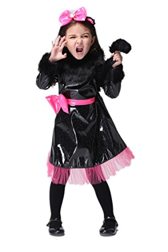NonEcho Child's Girls Cat Kitty Costume Halloween Outfit Kit