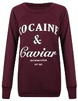Outofgas Clothing - Sweat Pour Femme Imprimé 'Cocaine And Caviar'
