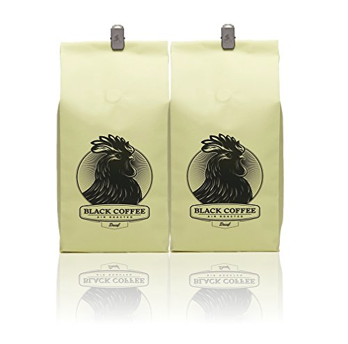 Black Coffee La * Decaffeinated * (2-Pack) - 12Oz Bag Of Whole Bean Coffee - Los Angeles, California - Air Roasters