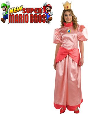 Mario Brothers Princess Peach Womens Costume (Small)