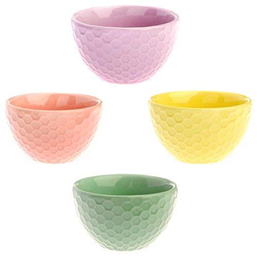 Boston International J Aime Paris-Coupe à glace en céramique, Mini Violet/vert/jaune Lot de 4-Rose