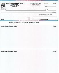 Quickbooks / Quicken Checks - 250 Printed Computer Laser Checks - Check on Top - Blue Red Blue Prismatic