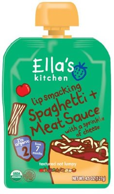 Ella's Kitchen Stage 2, Spaghetti & Meat Sauce with Cheese (7x4.5oz) - 1