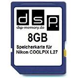 8GB Speicherkarte für Nikon COOLPIX L27