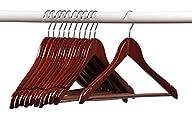 Home-it (24) Pack Solid Wood Clothes Hangers, Coat Hanger Light Cherry Wooden Hangers