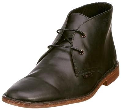 Ben Sherman Joev Leather Desert Boot - Black Calf : UK 12