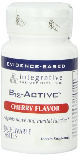 Integrative Therapeutics, Inc. B12-Active, Cherry Flavor, 30 Chewable Tablets