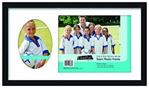 MCS Team Frame with 2 Photo Openings, 8 by 10-Inch and 5 by 7-Inch, Black