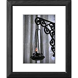 Framed Print of Lamp in Saint Seurin basilica, Bordeaux, Gironde, Aquitaine, France, Europe