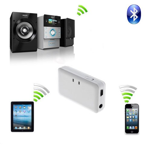 Generic Wireless Bluetooth 3.5Mm Audio Receiver Dongle Transmitter For Iphone White
