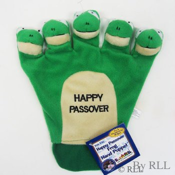 Happy Passover Frog Plush Hand Puppet -Fun & Educational (Limited Edition) - 1