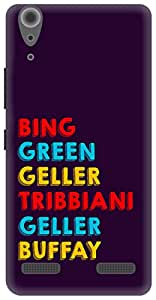 The Racoon Grip Surnames hard plastic printed back case / cover for Lenovo A6000 Plus