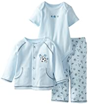 Little Me Baby-Boys Newborn Sports Star Take Me Home Set, Light Blue, 3 Months