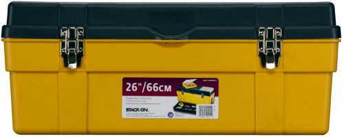 Stack-On GMY-26RPS/4 26-Inch Deluxe Professional Tool Box with Removable Parts Storage Boxes, Black/Yellow