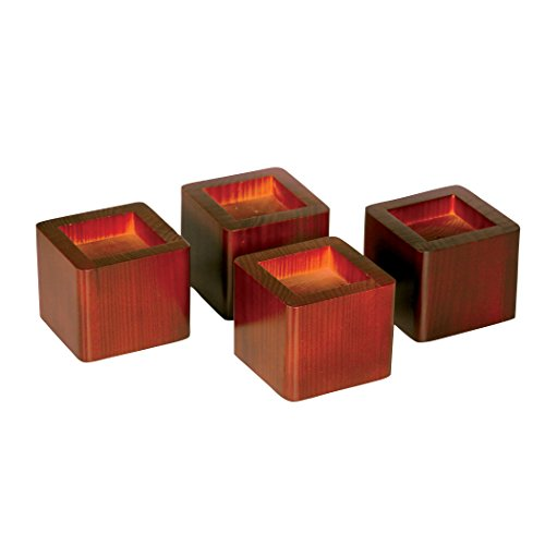 Cheap Wood Bed Risers lift Table furniture lifts storage Mahogany Set of 4