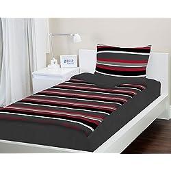Zipit Bedding Set, Gray Stripes - Twin