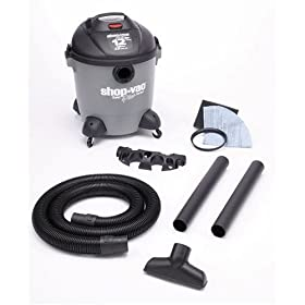 Shop-Vac 5851200 12-Gallon 5.0-Peak HP Quiet Plus Series Wet/Dry Vacuum