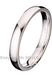 3mm Classic Polished Comfort Fit Titanium Wedding Ring Band