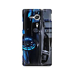 Motivatebox- Steel grey unique car Sony Xperia SP M35H cover -Matte Polycarbonate 3D Hard case Mobile Cell Phone Protective BACK CASE COVER. Hard Shockproof Scratch-