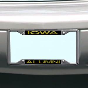 Amazon Com Ncaa Iowa Hawkeyes License Plate Frame Alumni