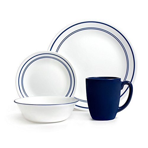 Corelle 20 Piece Livingware Dinnerware Set with Storage Classic Café Blue Service for 4  sc 1 st  Simply Smart Living & Corelle Break Resistant Dinnerware u0026 Dishes Archives ...