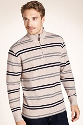 Xxxl Blue Harbour Pure Cotton Stripe Sweatshirt