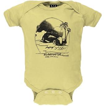 ZZ Top - Unisex-baby Lil Roadstar Lemon Infant Bodysuit - 0-6 months Yellow