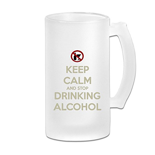 KIYOMM KEEP CALM AND STOP DRIKING Frosted Beer Glasses White