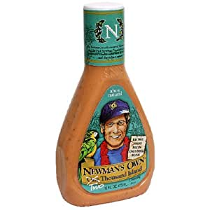 Newman's Own Salad Dressing, Two Thousand Island, 16-Ounce Bottles (Pack of 6)