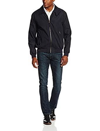 Weatherproof Garment Co. Mens Microfiber Classic Jacket, Navy, XL