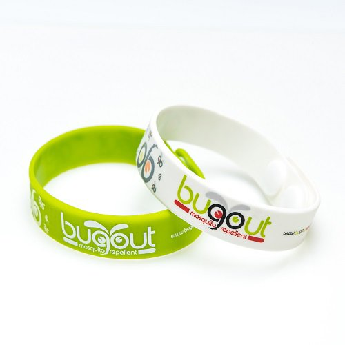Bugout Mosquito Repellent Bracelet, All-Natural Organic Pest Control. Fresh Scent! Works Indoors and Outdoors, Waterproof, Fully Adjustable and Stylish! Protect Against Bites, Comes in 2 Colors!