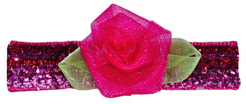 "Bow Allure ""Rainbow Lakes"" No-slip Shimmery Pink Organza Flower Hair Clip for Toddlers and Girls with Fine Hair **New** - The Clip Will Stay in Place, Guaranteed!- Retail Packaging"