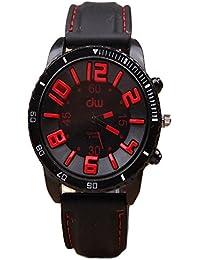 ISweven 2016 New Fashion Retro Big Dial Silicone Quartz Watches For Boys Analogue Black Unisex Wrist Watch W1085c