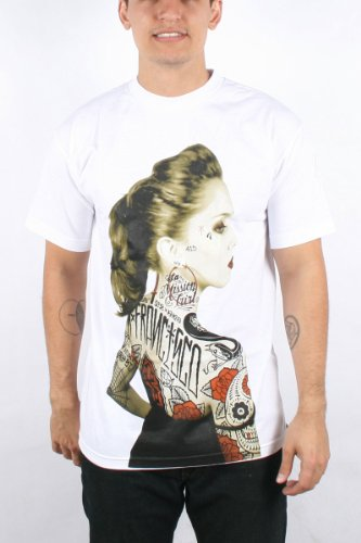Rebel8 - Vintage Rosalie Mens T-shirt in White, Size: X-Large, Color: White