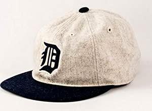 Detroit Tigers American Needle Statesman Cap Washed Flannel Vintage Leather Backstrap... by American Needle