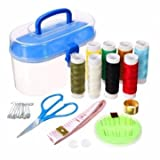 RANDOM COLOUR 24pcs DIY Multi functii on Sewing Kit Needle And Thread Tools Home Sewing Set