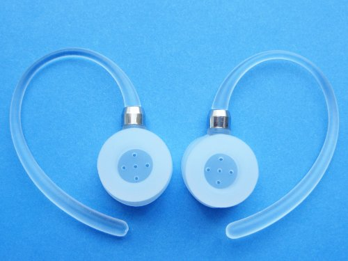 2 White Noise Isolating Earhooks For Motorola Elite Flip Hz720, H17, H17Txt, H19, H19Txt, Hx550, H525, H520 Bluetooth Wireless Device