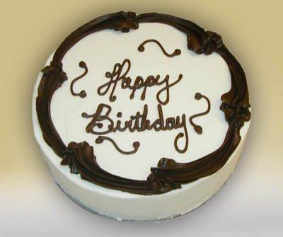 Gluten Free Birthday Cake Black and White