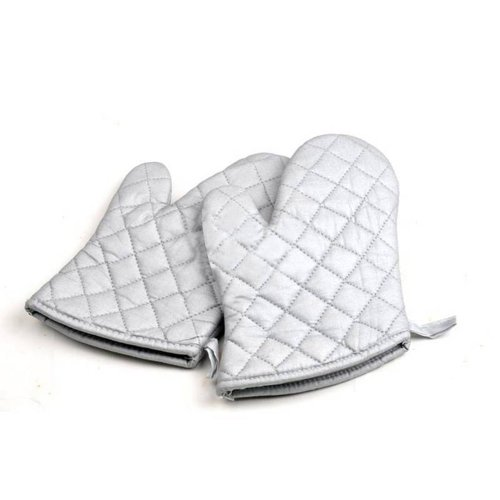 High Temperature Baking Oven Gloves, Silver, Small Size, One Pair