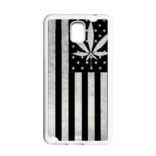 Generic Mobile Phone Cases Cover For Samsung Galaxy Note 3 Case Country American Flag Marijuana Cannabis Weed Hemp Leaf Smoker Design Custom Made Hard Snap On Cell Phones Shell Protect Skin