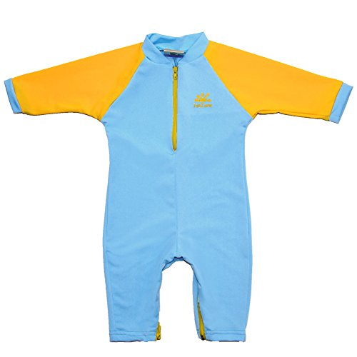 Fiji Sun Protective UPF 50+ Baby Swimsuit by Nozone in Bluebell/Buttercup, 6-12 months
