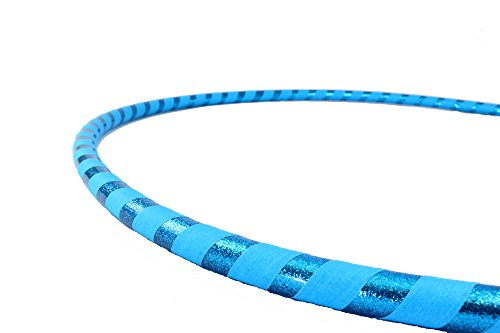 Weighted Fitness Hula Hoop. Great for Exercise, Dancing, Staying in Shape and Having Fun! (Sky Blue, Dance Hoop 36