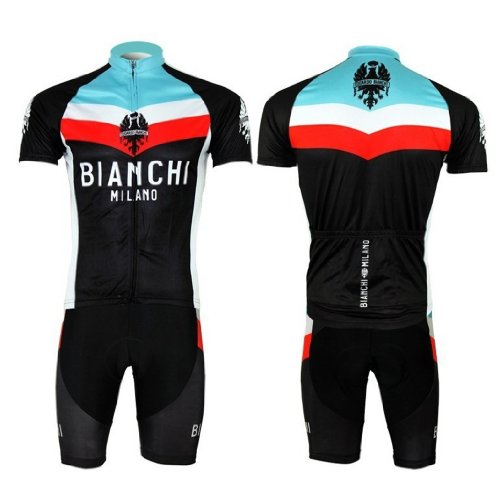 2013 NEW!!! BIANCHI Bib Short Sleeve Cycling Jerseys Wear Clothes Bicycle/ Bike/ Riding Jerseys + Bib Pants Shorts Size M