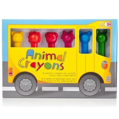 Animal Crayons - Set of 6